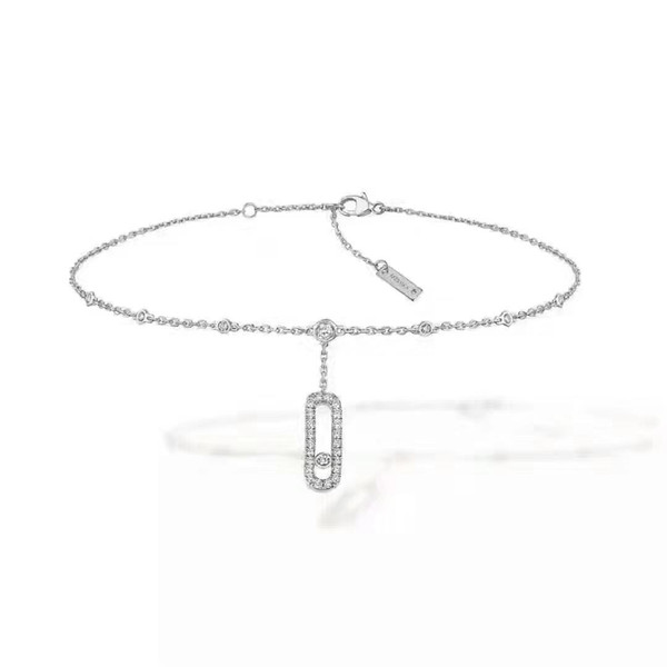 Designer Anklet Move Series S925 Sterling Silver Anklet Diamond Shine Lady Pendant 2019 Luxury Fashion Accessories Mobile Diamonds