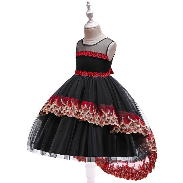 девочки платья детей дизайнер одежды девочки платье принцессы цветок девочки платья для свадебных девочек-подростков одежда детей платья розничной A8062