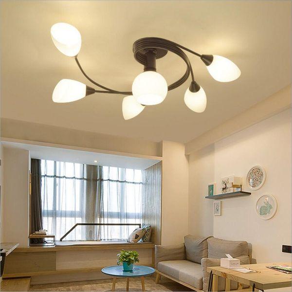 Compre Estilo Rústico LED Empotrado Luces De Techo De Montaje Creativo  Salón Lámpara De Techo Dormitorio Lámparas De Techo Para Comedor Cocina A  ...