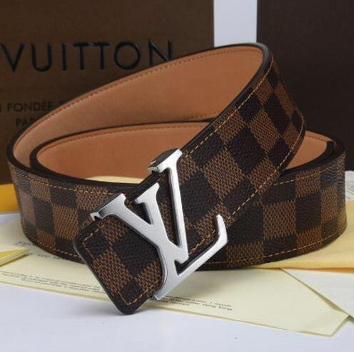 0d8c9759b80 LOUIS VUITTON Designer Brand Leather Belt Metal Buckle Printing Belt For  Womens Mens High Quality Men Jeans Waist Belts Belt Sizes Back Support  Belts ...