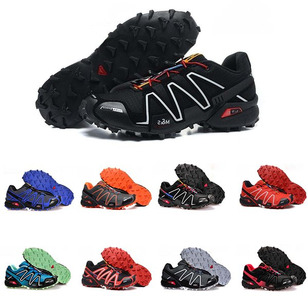 2019 Speed Cross country 3 CS Men Running Shoes GTX Fashion Luxury Designer Mens Shoes Athletic Sneakers Outdoor Trainer Shoes Size 40-46