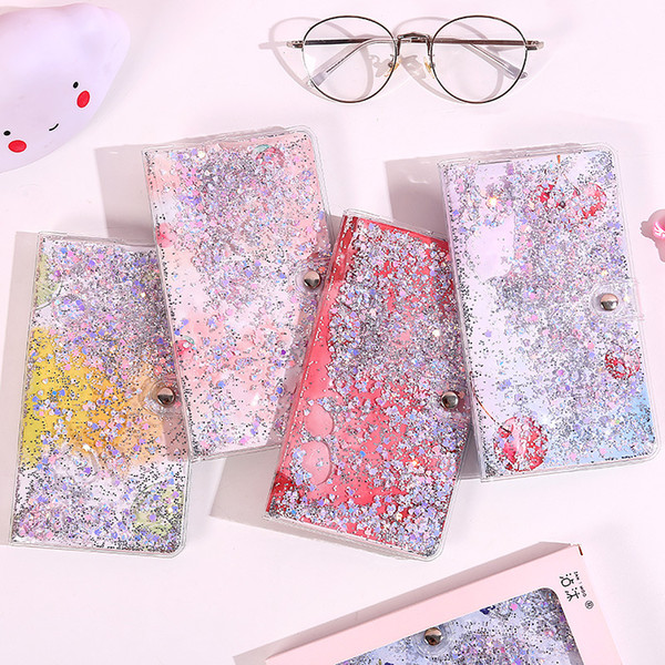 cute stationery quicksand hand account book square girl heart cute buckle plastic cover this net red kawaii notebook Quicksand hand book