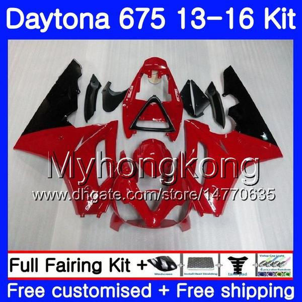 Body For Triumph Daytona-675 Daytona 675 13 14 15 16 Bodywork 328HM.11 Daytona675 Daytona 675 hot Red black 2013 2014 20 15 2016 Fairings