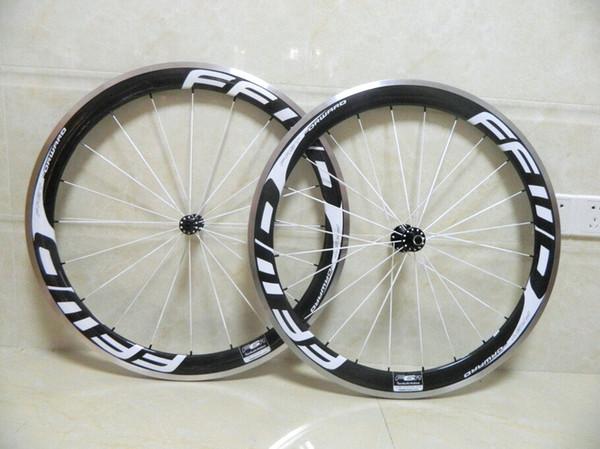 FFWD 50 milímetros Superfície Road Bike Wheelset Clincher liga de carbono Wheelset alumínio Brake incluem hubs e liberação rápida