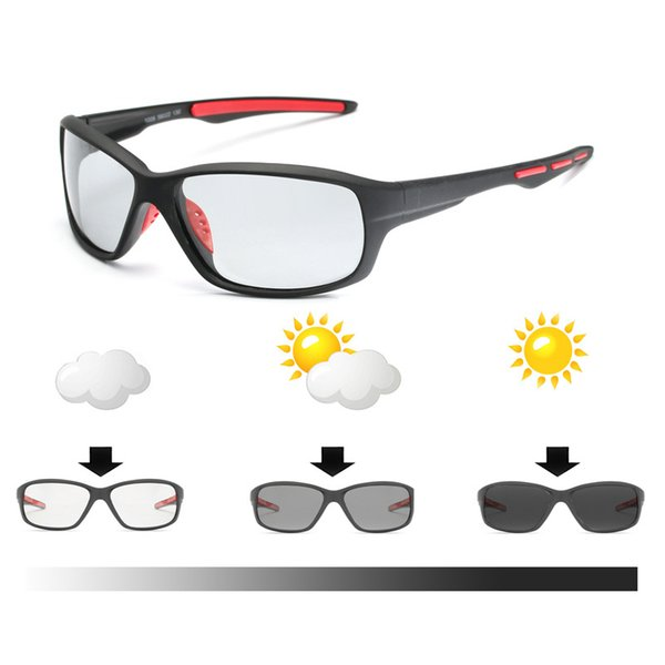 Sport Photochromic Polarized Glasses Cycling Eyewear Bicycle Glass MTB Bike Bicycle Riding Fishing Cycling Sunglasses 2019