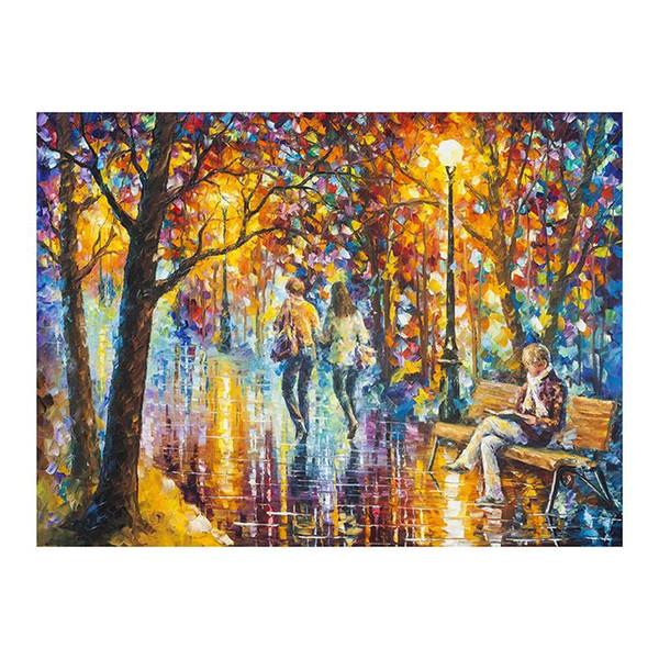 36x48 густая краска ножом картина лесной пейзаж ручная роспись масляной живописи импрессионистический фон ресторан украшение стиль сидения