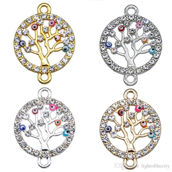 50Pcs Tree of Life Jewelry Charms Pendant Findings Accesssory for Women