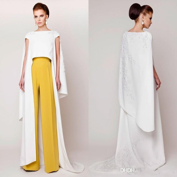Specail Design Vestidos 2019 New Couture Evening Dresses Pants Suits Floor Length Fashion Formal Evening Gowns vestidos de novia