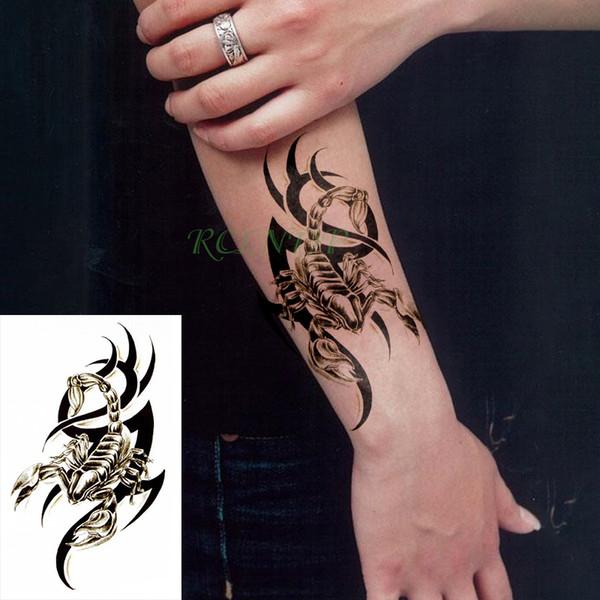 Autoadesivi provvisori impermeabili del tatuaggio scorpione insetto animale falso tatto flash tatoo tatuaggi di body art per ragazza donna uomo bambino