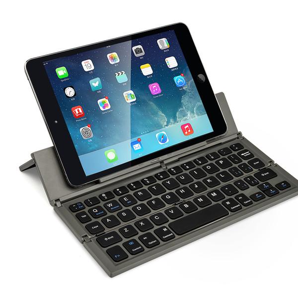 CL-888 Taşınabilir Kablosuz Klavye BT Katlama Klavye Masa Dizüstü Mini iOS Android iOS Tablet için Tuş Tutucu Windows