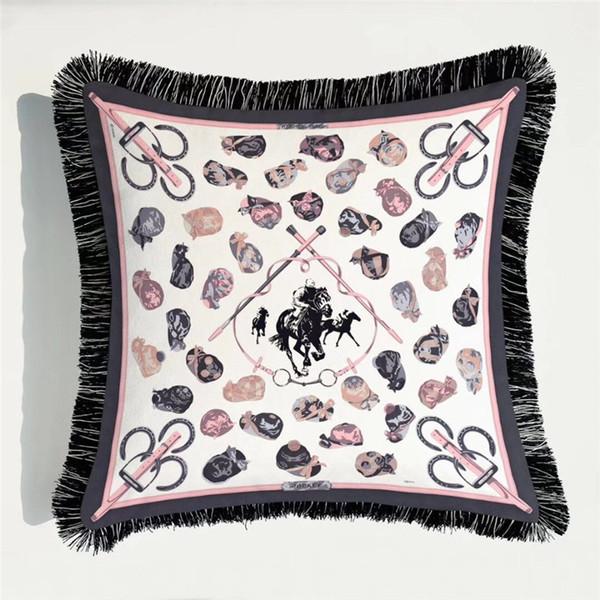 Abstrato geométrico de alimentação Luz Lisi Europeu Luxo Cashmere franjas de rendas frente e verso personagens de banda desenhada geométrico verde Pillow12 Imprimir