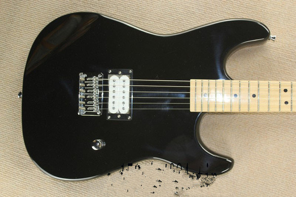 Free shipping Stratocaster made in usa 6 string black Maple fingerboard Electric Guitar custom body