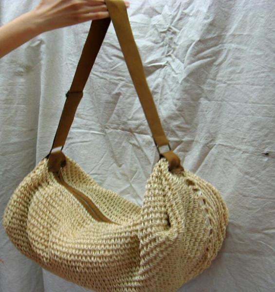 Mulheres Verão Tote Bag Rattan Tecido De Malha De Palha Grande Capacidade Totes Bolsa de Ombro Bohemia tote KKA7138