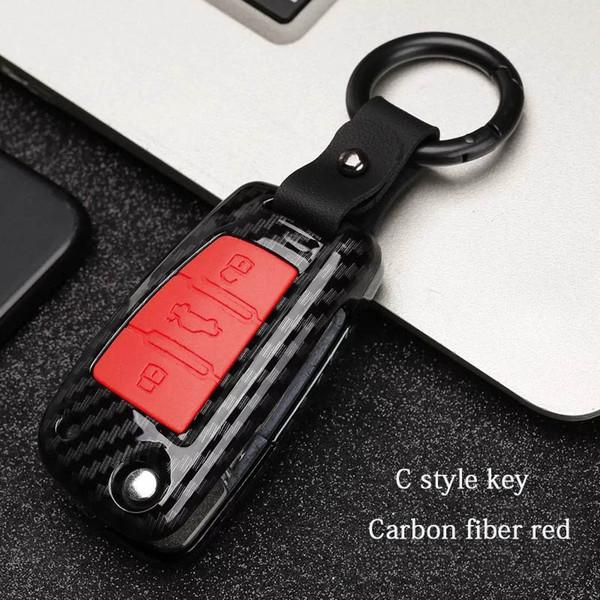 C tarzı - Kırmızı Karbon fiber