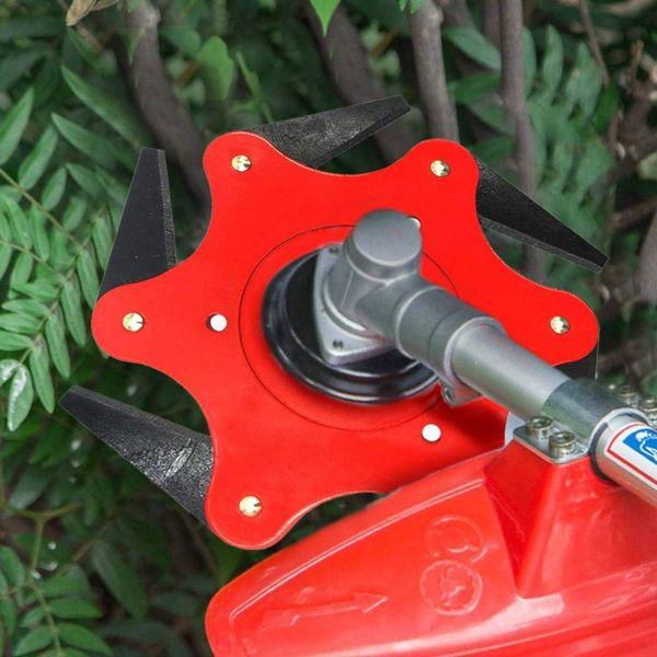 6 Teeth Brush Cutter Blade Trimmer Metal Blades Trimmer Head Garden Grass Head For Lawn Mower Garden Tools