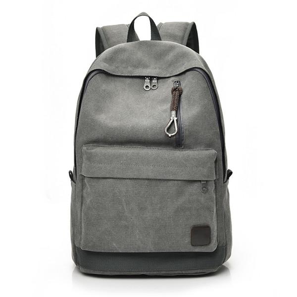DIDA BEAR 2018 Women Men Canvas Backpacks Large School Bags For Teenager Boys Girls Travel Laptop Backbag Mochila Rucksack Grey