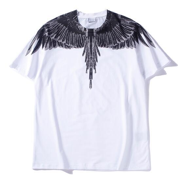 18ss new Marcelo Burlon white T-Shirt Men Milan Feather Wings T Shirt Men Women Couple Fashion Show RODEO MAGAZINE T Shirts Goros camisetas