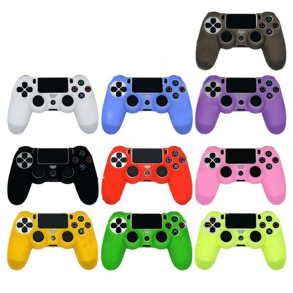 top popular Soft Silicone Rubber Case Cover For Sony Play Station Dualshock 4 PS4 Wireless Controller Skin PS4 Controller 2019