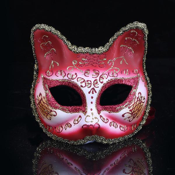 Personalidade Máscara Do Gato Festa de Feriado Make Up Máscara de Dança Ao Ar Livre Completa Meia Face Anti-Máscara Antiga Frete Grátis