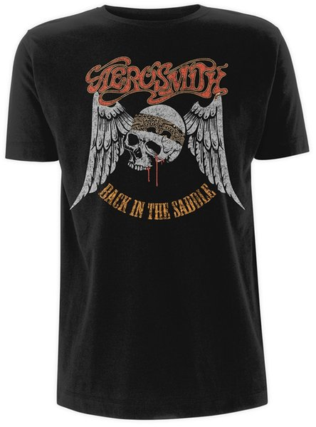 Aerosmith Back In The Saddle Steven Tyler Rock Licensed Tee T-Shirt Men Funny free shipping Unisex Casual top