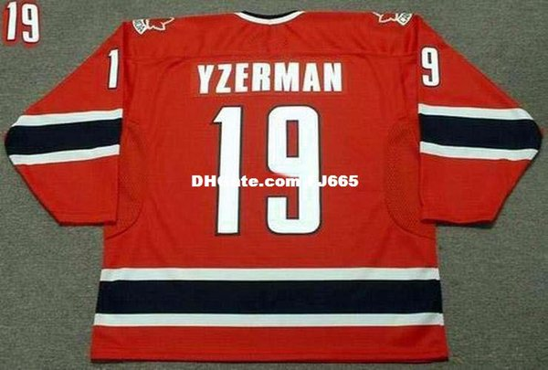 Cheap customize STEVE YZERMAN 2002 Team Canada Retro Olympic Top Hockey Jersey Mens Stitched Personalized Jerseys