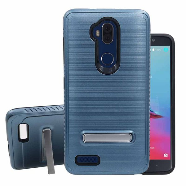 Hot Sale For Samsung S8 S9 S10 Plus Lite E A6 Hybrid Brushed Metal Cell Phone Case With Kickstand Phone Case Cover