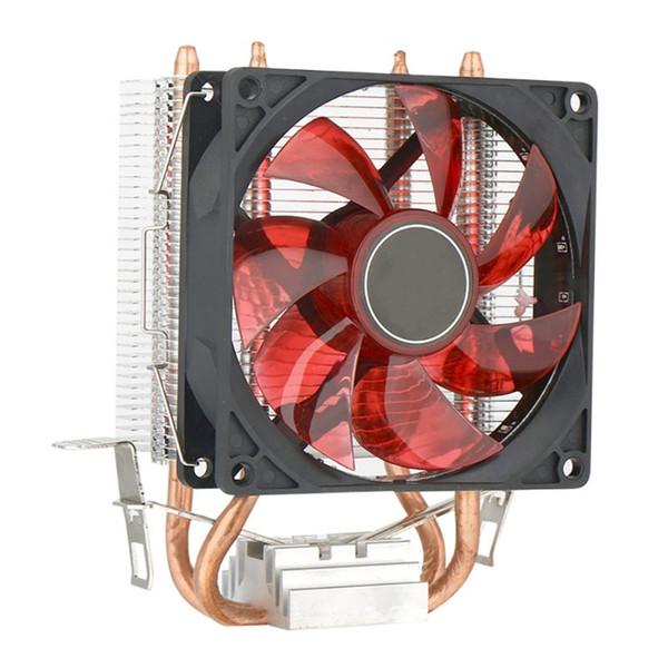 Silenzioso CPU Cooler Dual-rame del dissipatore di calore tubo luminoso a LED di dissipazione di calore Fan per Intel e AMD per facile da usare e installare