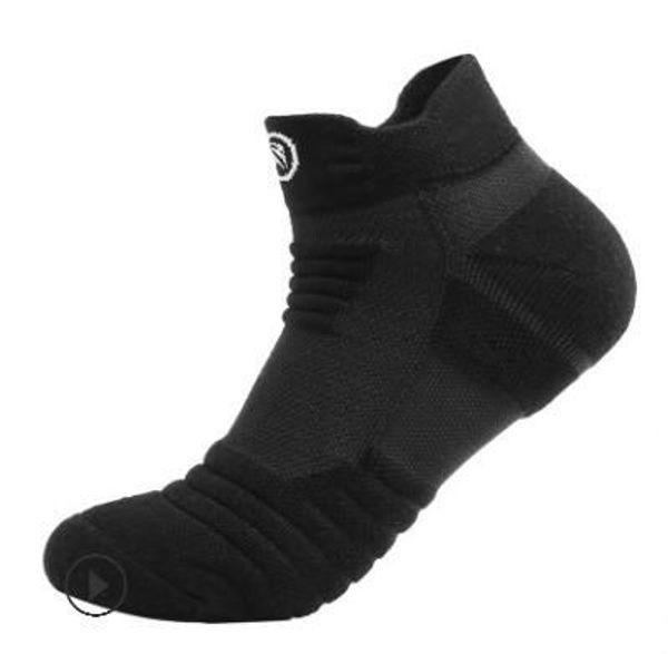 Les chaussettes en pur coton des hommes de basket-ball Elite ajoutent une base de serviette épaisse pour les collants de sport à l'extérieur
