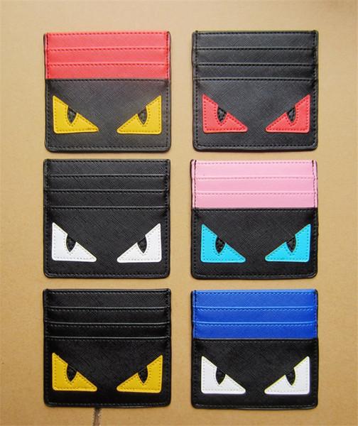 Titulaire de la carte de marque de luxe étudiant titulaire de la carte de crédit de luxe Monstres FF portefeuille Slot carte unisexe ultra-mince porte-monnaie B61202