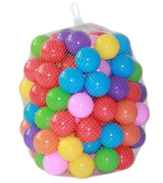 best selling 5.5cm Marine Balls Colored Children's Play Equipment Swimming Balls Toy Color Thickened Color Wave Ball Baby Ball Pool Toys
