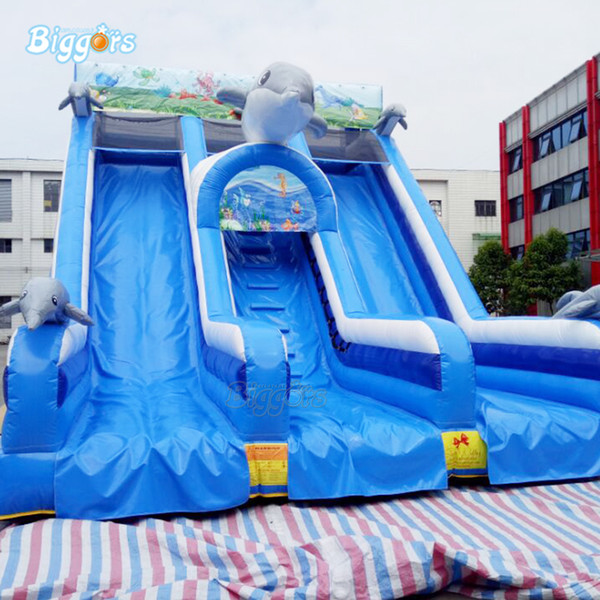 Chinese factory price large size Inflatable slide water park game slide for sales with free blower