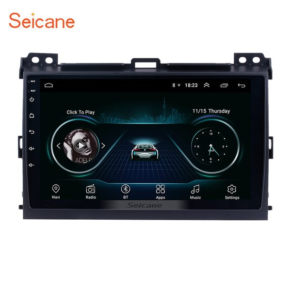 Android 8.1 HD Touchscreen 9 Inch Car Multimedia Player for 2004 2005 2006-2009 Toyota Prado with Bluetooth WIFI GPS Navi support 1080P DVR