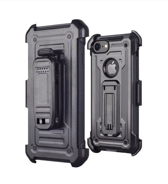 For Iphone 8 7 6 Plus X XS MAX XR With Kickstand High Impact Resistant Armor Holster Defender Shock Absorption Protective Case