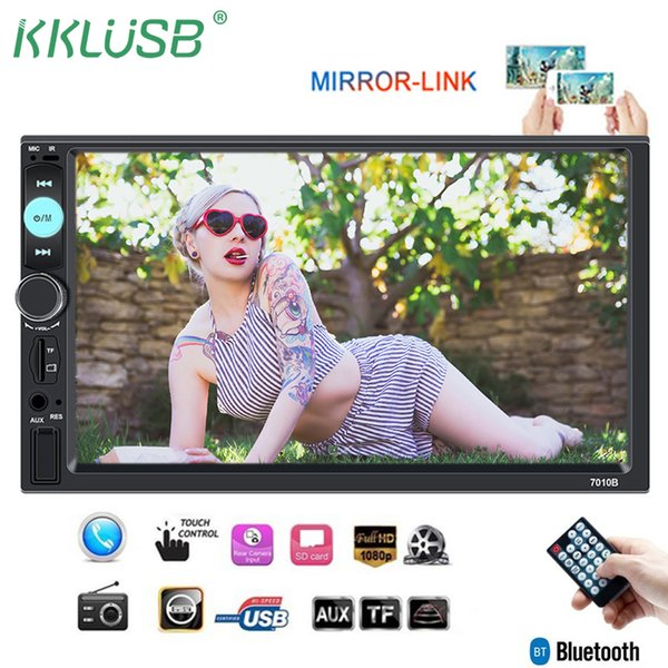 Autoradio 2 Din 7'' Inch LCD Touch Screen Car Radio MP5 Player Auto Audio Bluetooth Multiple Languages Support Rear View Camera car dvd