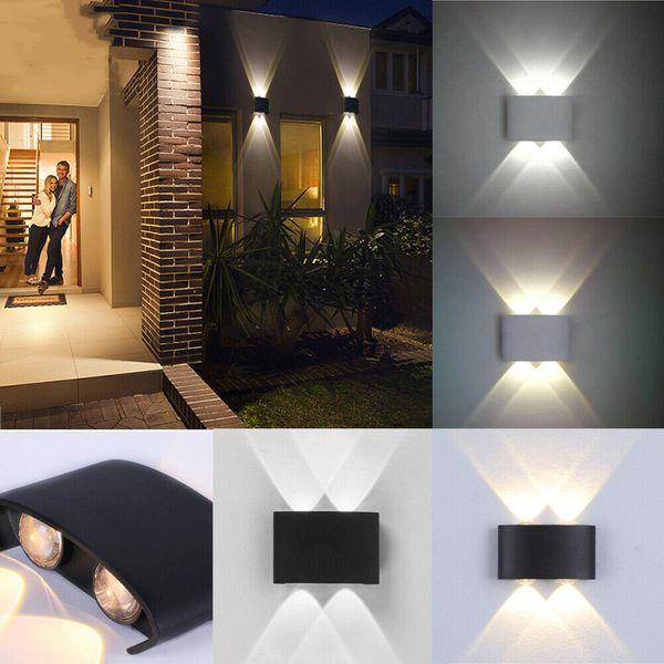 LED d'extérieur moderne étanche mur Lampe de jardin Couloir Balcon Haut Bas Lumières 4W
