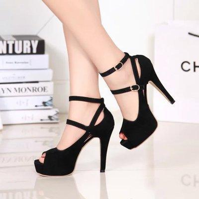 Open toe women pumps female high heels platform women shoes single shoes thin heels open toe female leg bandage