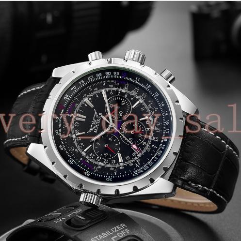 JARAGAR Top Luxury 45mm Brand Men Watch Mens Fashion Mechanical Watches Man Casual Business Waterproof Wristwatch Relogio Masculino