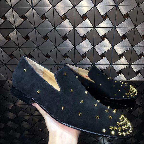 Yeni 2019 lüks düşük topuklu erkek ve kadınların gündelik siyah sivri deri iş ayakkabı Kırmızı Dipleri Ayakkabı boyutu 36-46