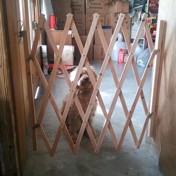 Dag Gate Pet Çit Ahşap Çit Geri Çekilebilir Köpekler Sürgülü Kapı