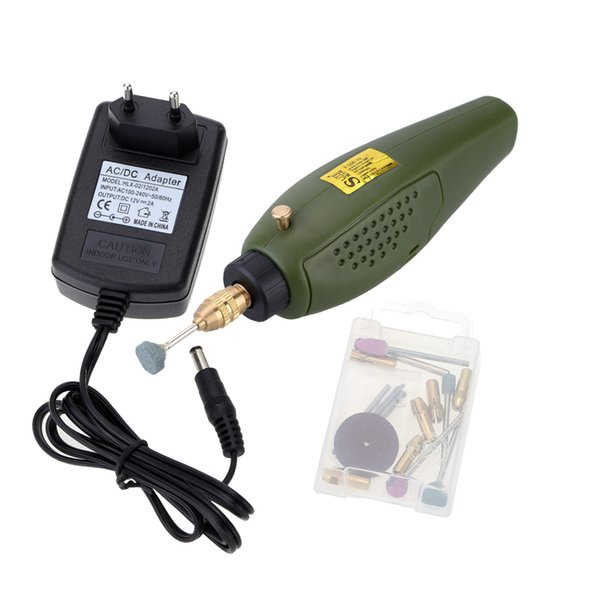 Mini 12V DC Electric drill Electric Grinder Grinding Set for DIY artist Milling Polishing Drilling Cutting Engraving Kit