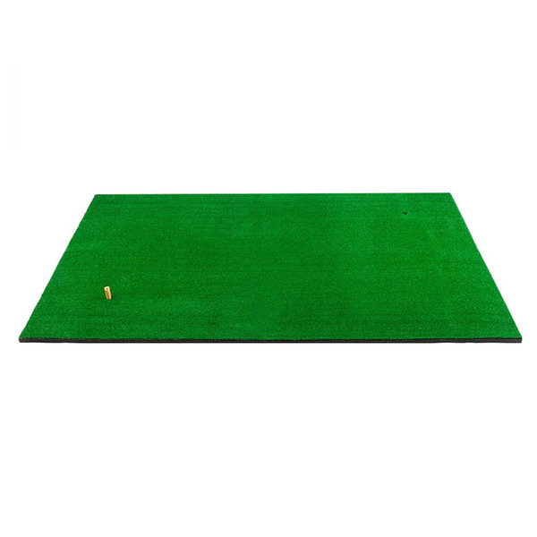 Golf Double Hole Strike Pad 5ft*3ft Rubber & Nylon Grass Training Aids Mats For Entertaining Green Color