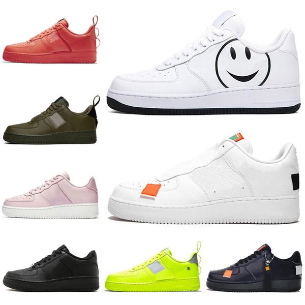 Nike Air Force 1 Forces Shoes Rahat Ayakkabılar Yüksek Düşük 1 Tek Yardımcı Tasarımcı Ayakkabı Kaykay Kadın Erkek Eğitmenler Spor Sneakers 36-45