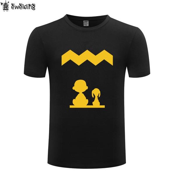Erdnüsse Charlie T Shirts Männer Anime Cartoon Kurzarm O Hals Baumwolle Mann T-Shirt Coole Lustige Streetwear Top T Big Size Sommer