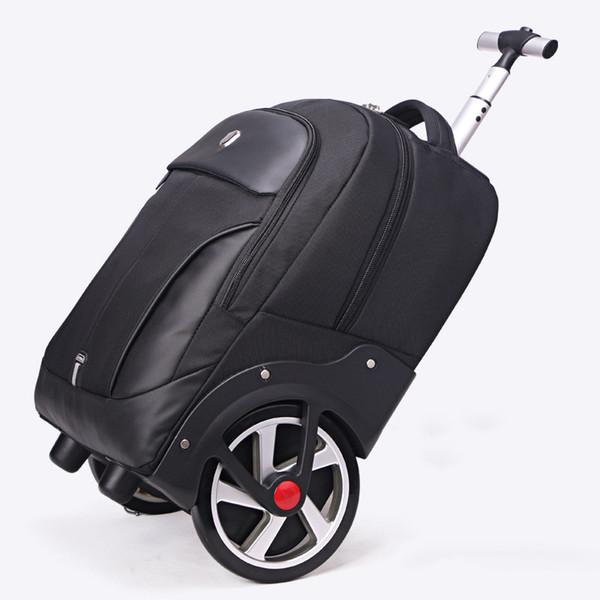 Yeni tasarım arabası haddeleme bagaj büyük tekerlek gezisi omuz çantası seyahat erkekler / kadınlar büyük kapasiteli bavul ışık yatılı valiz