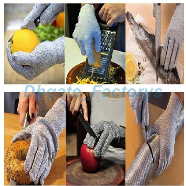 1pair Anti Cutting Gloves Stab Proof Gloves Puncture proof Glove Kitchen Food Grade Hand Protective Glove