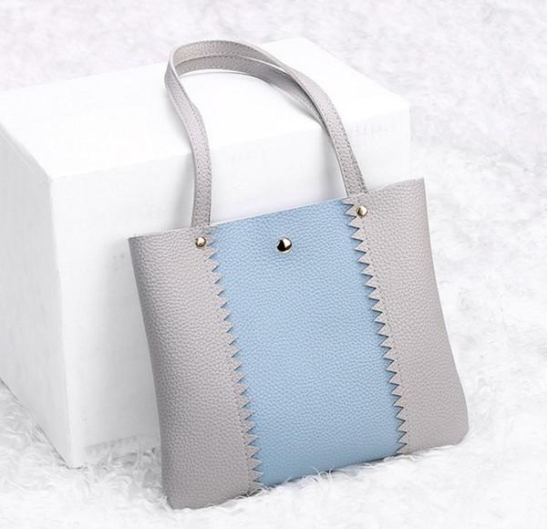 Cheap Women Mixed Colors Handbag Shoulder Bag Large Tote Ladies Purse Designer Famous Brand JULY9