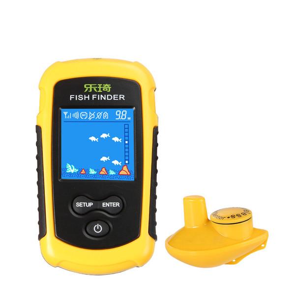 Fishfinder portatile senza fili per pesca in barca Display LCD anti-UV Sensore sonar Trasduttori di profondità per kayak Pesca sul ghiaccio Pesca in mare