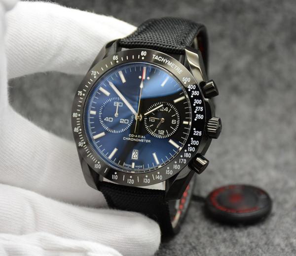 Quantità limitata OG Super 311.30.42.30.01.005 Movimento cronografo al quarzo giapponese Orologio da polso da uomo Quadrante nero Miglior orologio da uomo in acciaio
