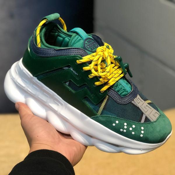 Réaction de chaîne espadrilles de créateurs de luxe occasionnels de la mode, chaussures de sport pour hommes et femmes lien chaussures en relief à vendre