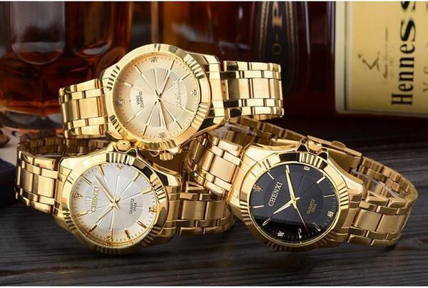 Top Fashion Brand Luxury CHENXI Uhren Frauen Goldene Uhr Casual Quarz Armbanduhr Wasserdichte Weibliche Uhr Für Feminine05